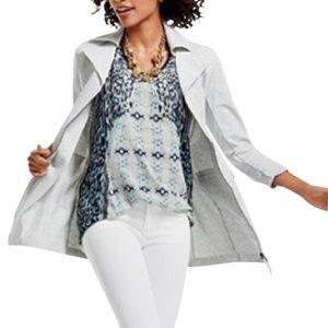 Cabi Foldover Collar Jacket Gray Style #210 L